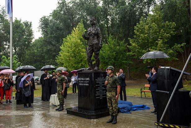 Otkrivanje spomenika Milunki Savic